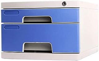 Classeurs Petit Bureau A4 fichier Armoire de Rangement 2 Couches fichier Plastique Armoire à tiroirs Plat UOMUN