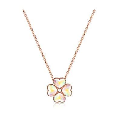 Amazon - Save 70%: Pendant Necklace AB Color Heart Crystal Pendant Unique Design in Both Si…