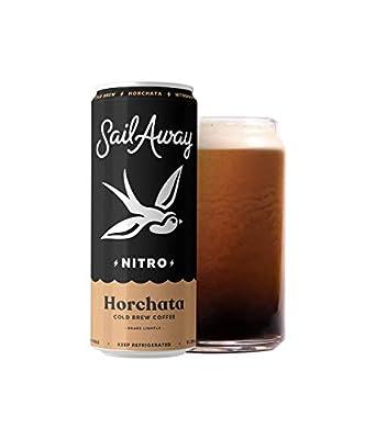 Sail Away Coffee Co. | Nitro Cold Brew Coffee | Sugar Free, Gluten Free & Non-Dairy | Organic | Draft Nitrogen Pour, Clean Energy, Low Acidity, Keto | 11.5oz (Hotchata, 6 Pack)