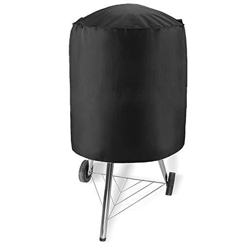 Alomejor1 BBQ Grill Cover, Grill Abdeckhaube Rund Grillabdeckung Wasserdicht Kugelgrill Abdeckung Oxford Stoff Staubdicht Grillofenabdeckung(77x58cm(210D))
