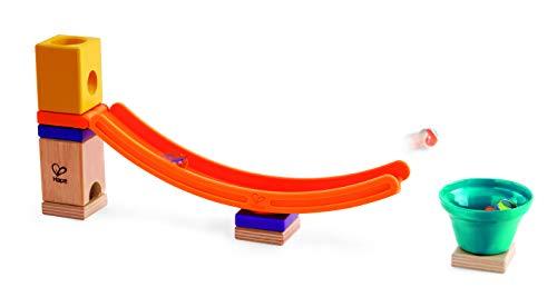 Hape E6023 - Mega Skatepark, Zubehör für Quadrilla Kugelbahnen, Murmel-Sprungchance, ab 4 Jahren, mehrfarbig