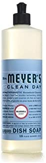 MRS Meyers Clean Day Dish Soap, Liquid Bluebell, 16 Ounce (Pack of 6)