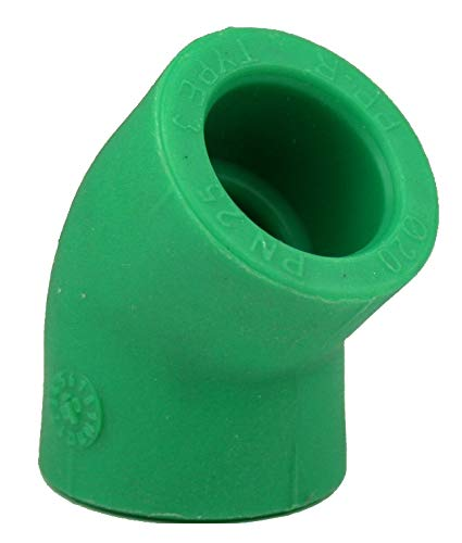 10 x PPR Aqua Plus 45° Winkel mit 20mm Durchmesser, Fusiotherm
