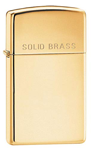 Zippo 1027006 Feuerzeug 1654 Brass High Polished Slim