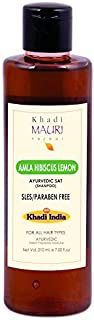 Khadi Mauri Herbal Amla Hibiscus Lemon Shampoo - SLES & PARABEN FREE - 210 ml