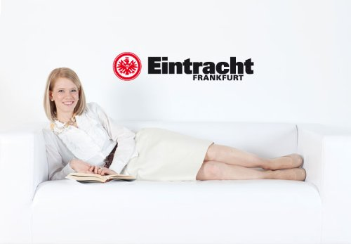 Wandtattoo – Eintracht Frankfurt Schriftzug mit Logo, 58x12 cm