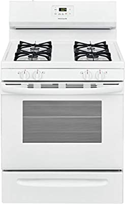 "Frigidaire FCRG3015AW 30"" Freestanding Gas Range with 4 Sealed Burners 5 cu. ft. Oven Capacity Storage Drawer Even Bake Technology Electronic Kitchen Timer in White"