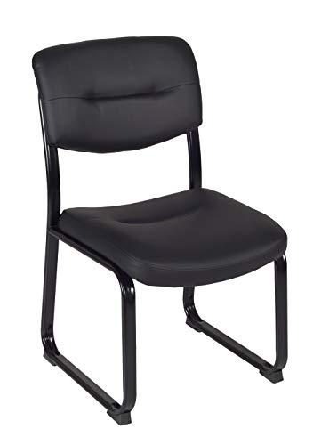 Regency Steele Lobby/Multipurpose Armless Chair, Black