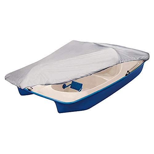 iCOVER Pedal Boat Cover, Fits 3 or 5 Person Pedal Boat Water Proof Heavy Duty Boat Cover, Grey