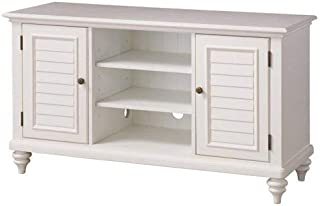 Bermuda White TV Credenza Stand by Home Styles