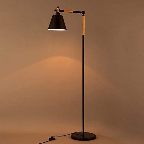 N/Z Equipo para el hogar Lámpara de pie Lámpara de pie Americana nórdica LED Dormitorio de Estudio Iluminación Decorativa Creativa Lámpara de pie de Hierro Luz de Suelo Vertical Que cuida los Ojos