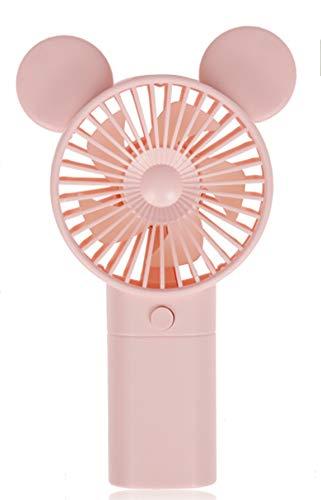 KMTSTYLE Ventilador USB con Orejas de Conejo Recargable Mini Ventilador de Mano portátil Eléctrico Ventilador para Interiores o al Aire Libre. (Rosa)