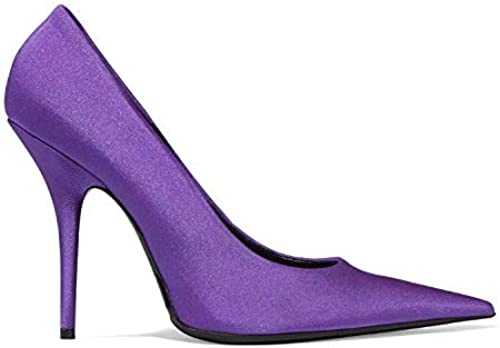 Yukun Schuhe mit mit mit hohen Absätzen Größe Größe Pu Silk Satin Spitzen Damen Schuhe Super High Mit Flacher Mund Bühne Einzelne Schuhe Weißlich, 39, Lila  beste Qualität zum besten Preis