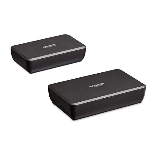 Audiosender für Lautsprecher - Marmitek Surround Anywhere 221 - digitale Latenzfreie Übertragung - drahtloser Surround Lautsprecher Anschluss - schliessen Sie zwei Lautsprecher drathlos an
