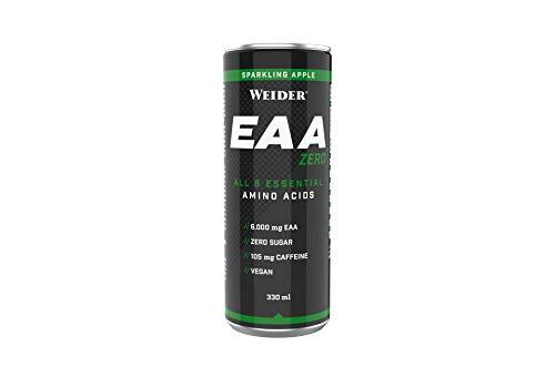 Weider EAA Zero Ready to Drink, Sparkling Apple, 24  x 330 ml Dose, Essentielle Aminosäuren, Fitness