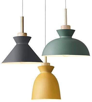 Plafondlamp De Scandinavische Stijl Moderne Moderne Minimalistische Eenvoudige Ontwerp Restaurant Bar Cafe Creatieve Slaapkamer Lichte Iron Macarons Drie Kroonluchter Geel 5W Lamp Lamp Lamp