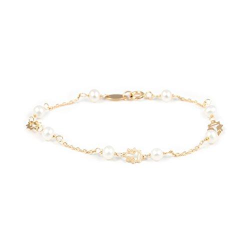 Bracciale perle per Bambini - oro giallo 18k (750)
