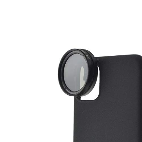 SYSTEM-S CPL Filter 37 mm Circular Polarizer Lens Black with Case for iPhone 12 Pro Max