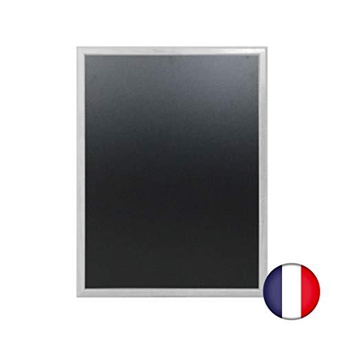 Pizarra de pared de madera, color gris, dimensiones 86 x 66 cm, fabricación francesa