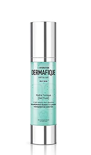 Glamorous Hub Dermafique Hydratonique Gel Sérum Fluide Visage Pour Peaux Normales à Grasses, Testé Dermatologue (50 G)