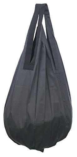 マーナ(MARNA) Shupatto (シュパット) コンパクトバッグ Drop (ドロップ) ブラック 縦型 しずく 一気にたためるエコバッグ J490BK