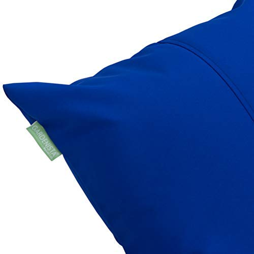 Gardenista | Outdoor Water Resistant Foam Crumb Filled 18' Garden Furniture Cushion (Blue)
