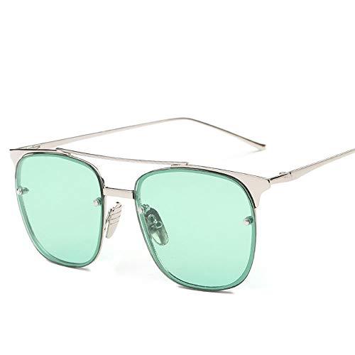 Seonex Leyenda del mar Azul Gafas de Sol Coloridas de Metal con Montura Cuadrada Retro conducción Polariz Lovers Travel New Online Celebrity Gafas Foto Ocio Moda Deslumbrante Gafas de Sol polarizadas