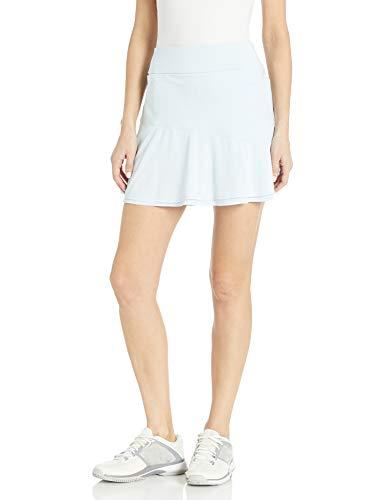 Adidas Falda de Punto para Mujer Ultimate365, Ultimate365 Falda de Punto con Volantes, Tinte Cielo, Large