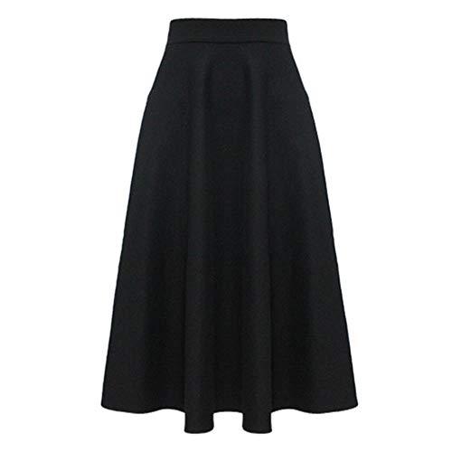 MU-PPX Lange Maxi Dicke A-Linie Röcke Für Frauen Plus Größe Winter Warme Röcke