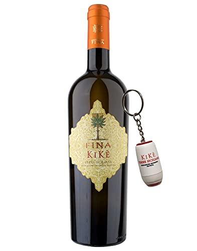 Sicilia Bedda - Terre Siciliane IGT Traminer Aromatico Sauvignon Blanc Kikè Fina 2020 75 CL - Vari Formati con Cofanetti Esclusivi (1 Bottiglia con Portachiavi Cantine Fina Kikè)