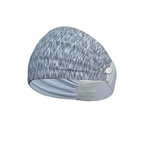 Fenverk Kopfband, Headband für optimalen Ohrenschutz beim Jogging, Trage eine M-a-s-k-e,Laufen, Wandern, Fahrrad- und Motorrad Fahren - Stirnbänder für Damen und Herren,with Button(B#03)