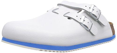 Birkenstock Kay Leder Softfootbed, Unisex-Erwachsene Clogs, Weiß (Weiß), 38 EU