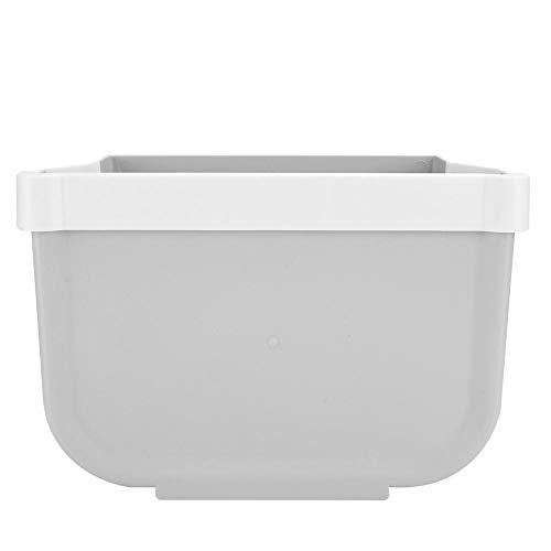 HERCHR Haushalts Mülleimer, Klapp Mülleimer Hängende Mülltonne für Home Kitchen Office 9.8x5.9x7.1in(Grau)