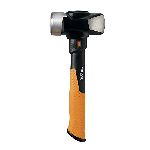 Fiskars IsoCore 3 Pound Club Hammer, 11 Inch,750910-1001,Orange/Black