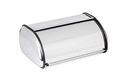 Jiallo Stainless Steel Bread Box, Large, Silver