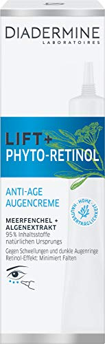 DIADERMINE Lift+ Phyto-Retinol Augenpflege Anti-Age Augencreme, 1er Pack (1 x 15ml)