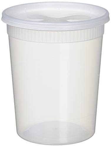 YW COMINHKR02572325 Sets 32oz Plastic Soup/Food Container with lids