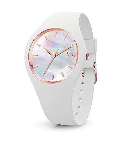 Ice-Watch - ICE pearl White - Weiße Damenuhr mit Silikonarmband - 016936 (Medium)