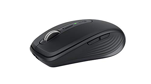 Logitech MX Anywhere 3 Compact Performance Mouse, Wireless, Comfort, Fast Scrolling, Any Surface, Portable, 4000DPI, Customizable Buttons, USB-C, Bluetooth - Graphite