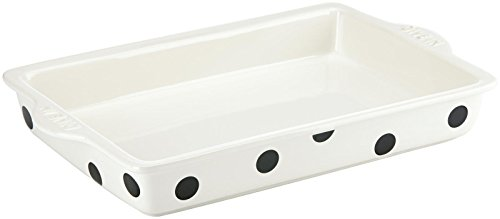 KATE SPADE Words Rectangular Baker, 6.95 LB, White