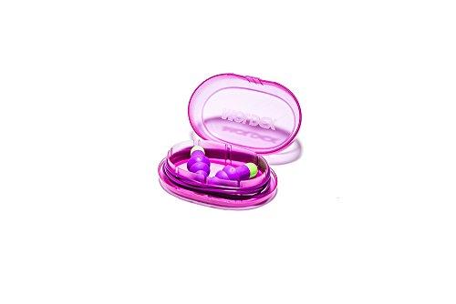 6 Paar Ohrstöpsel / Gehörschutzstöpsel mit Band - Rockets Cord (6401) von Moldex - Gehörschutz mit SNR 30dB - Paarweise hygienisch und praktisch in der Box verpackt