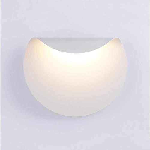 Eclairage mural Lumière Home Decor Spotlight Simple ronde Friendly Design futuriste Matériau Wall Washer Lampe Prix raisonnable Métal + metel (Size : Warm White)