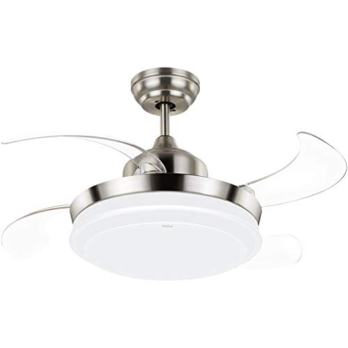 Luces de ventilador de techo Ventilador de techo LED de eficiencia energética de 36 pulgadas con kit de luz y remoto for el restaurante del dormitorio de la sala de estar, color blanco con motor silen