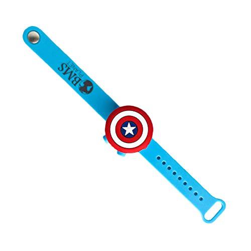 Pulsera Dispensadora de Gel Hidroalcohólico Niños Niñas Capitán América Porta Gel Desinfectante de Manos Niños Material Escolar Vuelta al Cole