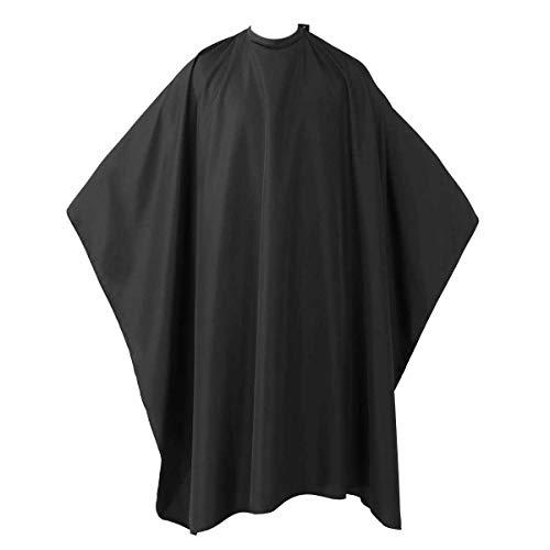 Wasserabweisend Friseurumhang, Frisier-Umhang zum Schneiden, Färben, Unisex Friseure Kleid für Friseursalon, Barbier, Ganzkörperansicht Stoff-Umhang für Erwachsene und Kinder schwarz