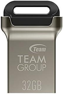 TEAMGROUP C162 32GB USB 3.2 Gen 1 (USB 3.1/3.0) Mini Fits Metal USB Flash Drive, External Storage Thumb Drive Memory Stick...