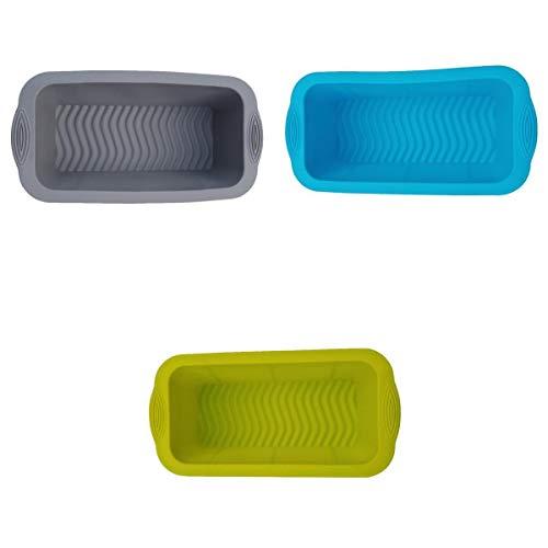 Non-brand 3X Caja de Tostadas Rectangular de Silicona Molde de Pastel de Pan Largo Molde de Hornear Bricolaje