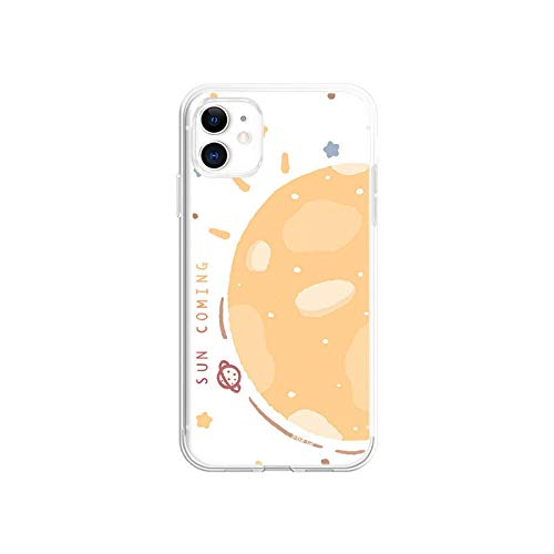 Sun-moon personalizado caso para iPhone 11 12 PRO MAX 6 7 8 6S plus Mini Case Apple X XR XS SE 2020 suave transparente protector Cover-SUN-iPhone 6sPlus