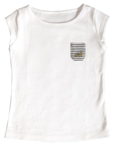Green Nippers - T-shirt manches courtes Fille GN053612 - Blanc (White) - 9 mois
