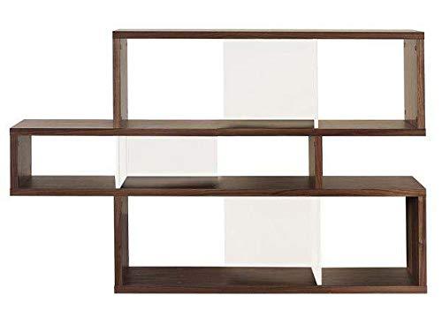 mds étagères contemporaines en Bois, London est réversible, Trois Dimensions, Plusieurs Options de Finition - Design Temahome - 100 x 155 x 34 cm (HxLxP) - Noyer/Fonds Blancs